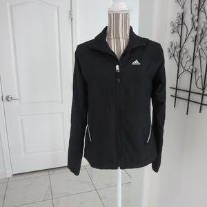 Adidas Black Full Front Zip Lightweight Jacket